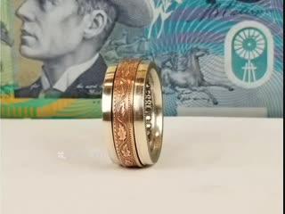 Колечко, сделанное из двух монет - vk.com/tricks_lf