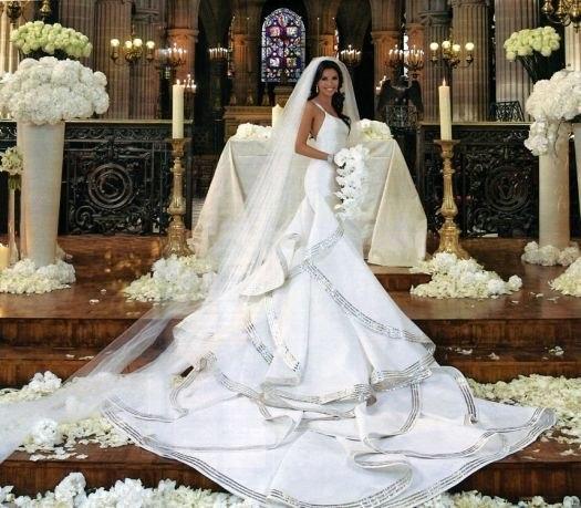 Свадебные платья русалка с фатой