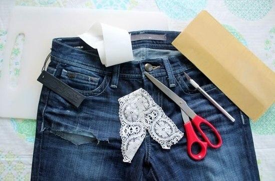 Как украсить джинсы мастер класс - Ремонт СПБ