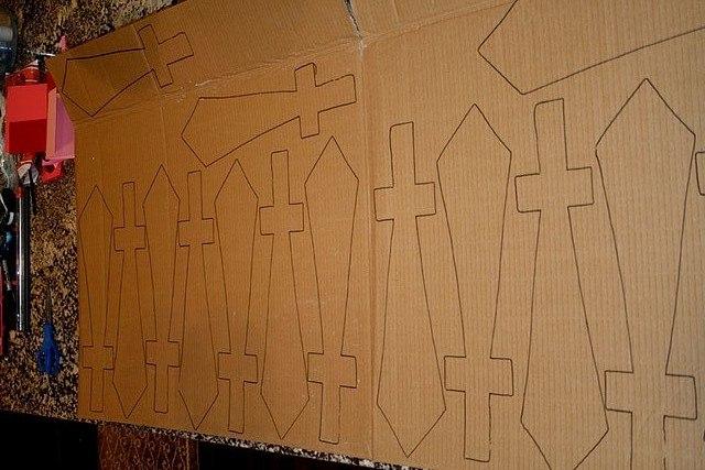 Богатырский меч из картона