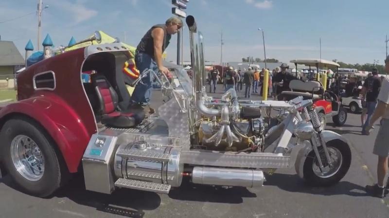 Дальнобой по США Америка Трех колесный мотоцикл с двигателем CAT