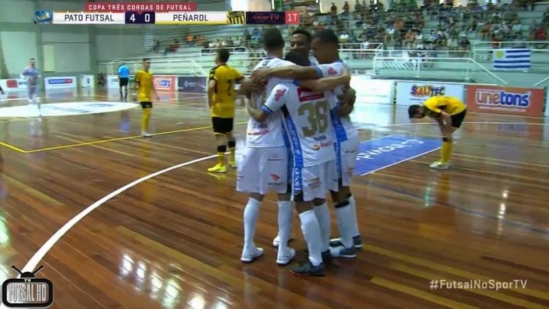Gols Pato 8x1 Peñarol Disputa de 3º lugar Copa Três Coroas de Futsal 2019 17 02 2019