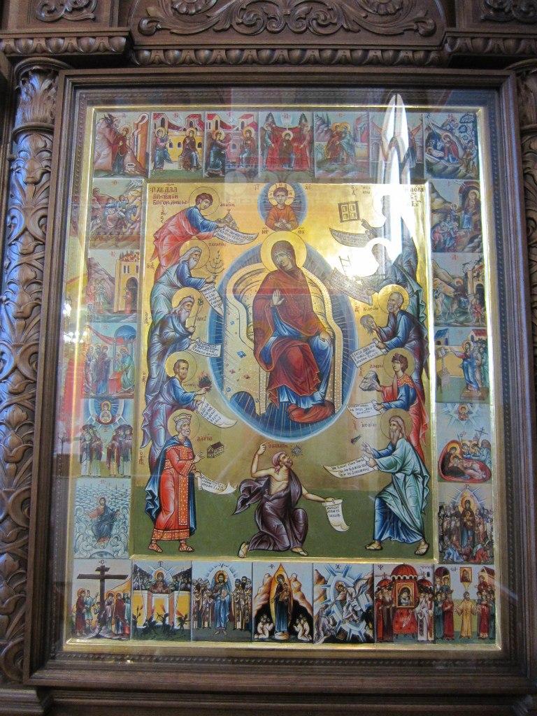 Икона Похвала Пресвятой Богородицы (крупный план) (03.07.2014)