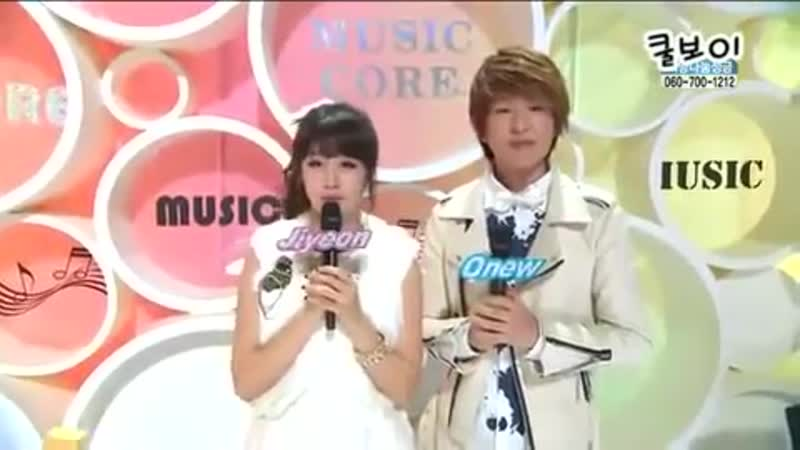 [110108] SHINee MC Onew Cut 2 @ Music Core