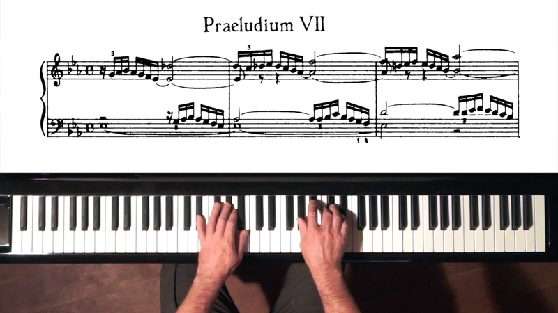 Bach Prelude and Fugue No.7 Well Tempered Clavier, Book 1 with Harmonic Pedal