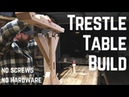 Indestructible Farm House Trestle Table w Old School Joinery Woodworking How To