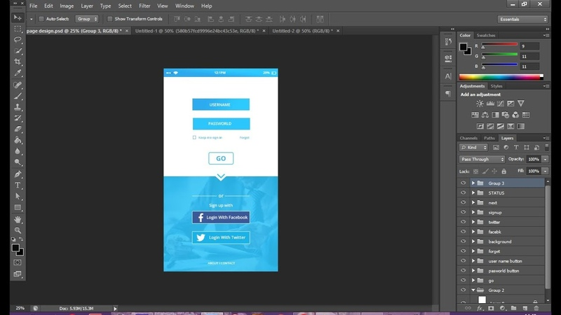 UI Design tutorial in Photoshop How To Design a Mobile App Login Page