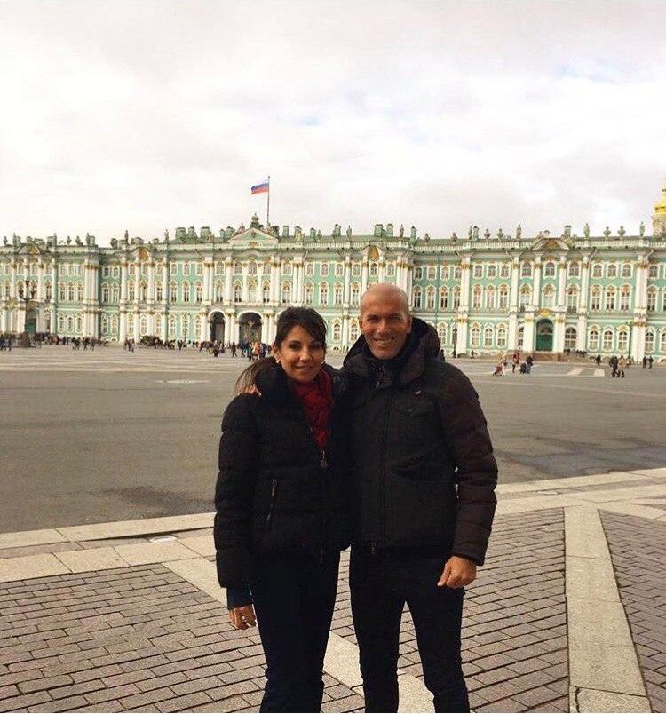 Зинедин Зидан с женой провел два дня в Санкт-Петербурге