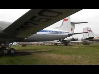 Ил-18д Самолет в музее Ульяновска Il-18d Airplane
