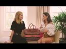 Camila Coelho shows her flight kit to Rosie Huntington-Whiteley