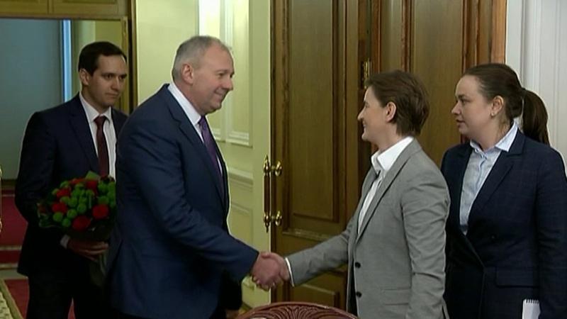 Румас встретился с премьер-министром Сербии Аной Брнабич