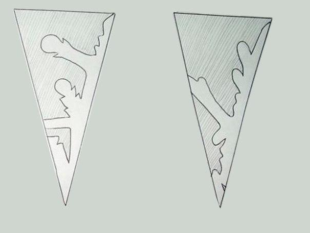 Схемы снежинок балеринок из бумаги распечатать6