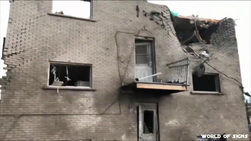 Apocalyptic destruction by a tornado in Gatineau, Canada 21 Sept. 2018