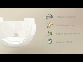 Naty by Nature Babycare - Organic Diapers / Eco Nappies short video