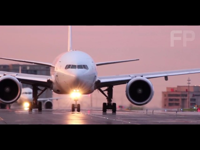 Air Canada B777-300ER Takeoff in Pink Skies | Toronto Pearson, HD 1080p