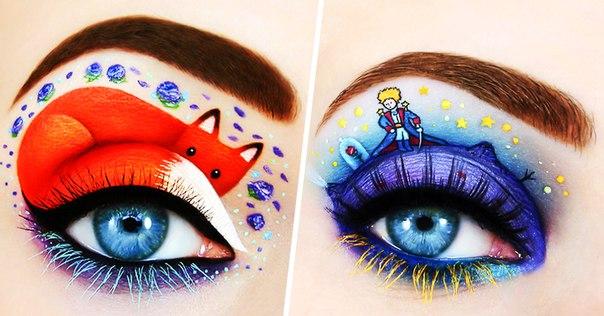 Художница использует глаза как холст и рисует на них сказку: ↪
