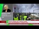 Marine Le Pen s'exprime au sujet des gilets jaunes