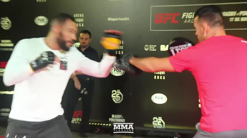 UFC Argentina_ Santiago Ponzinibbio Open Workout Highlights