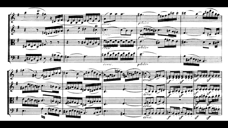 Beethoven String Quartet no. 8 in E minor, op. 59 no. 2