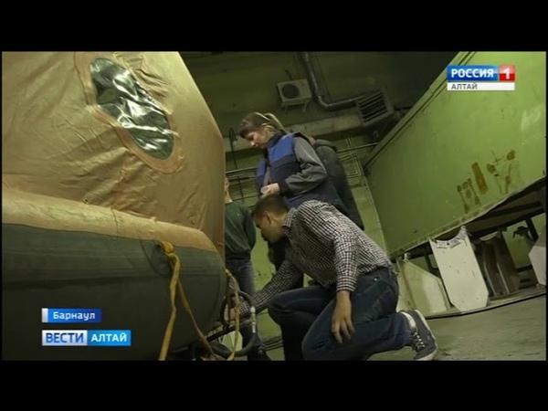 В Барнауле провели первые испытания самовосстанавливающегося плота (Barnaul22)