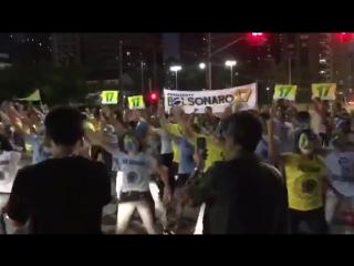 militantes pro Bolsonaro fazem belíssima homenagem ao capitão e chocam o exército brasileiro