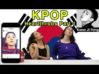 American Girls React to Korean Male Celebrities - Part 1 (KOR SUB)