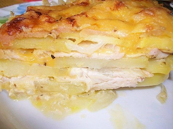 Картофельная запеканка с курицей и сыром (по-французски) Ингредиенты: Картошка