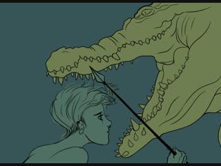 рисую как крокодил ловит мальчика