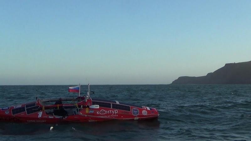 6 декабря 2018. Старт перехода через Южный Тихий океан на весельной лодке АКРОС.