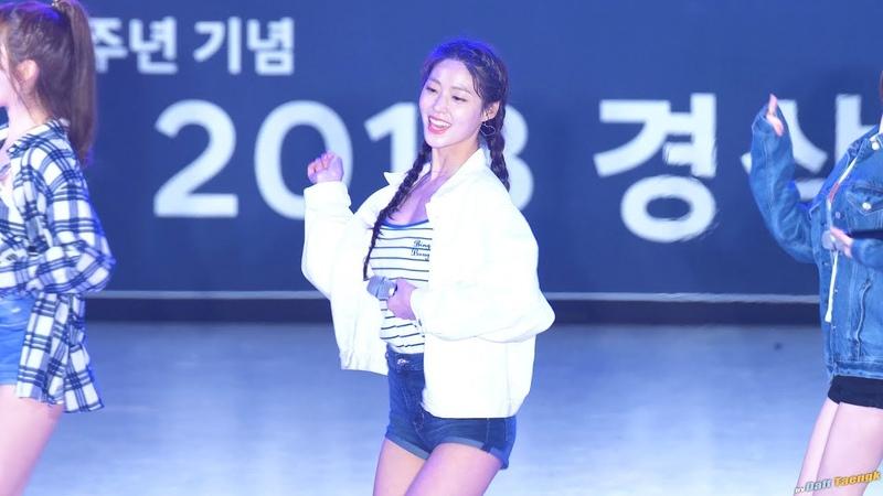 181017 설현 Seolhyun AOA '심쿵해 Heart Attack' 4K 60P 직캠 @경상대 축제 by DaftTaengk