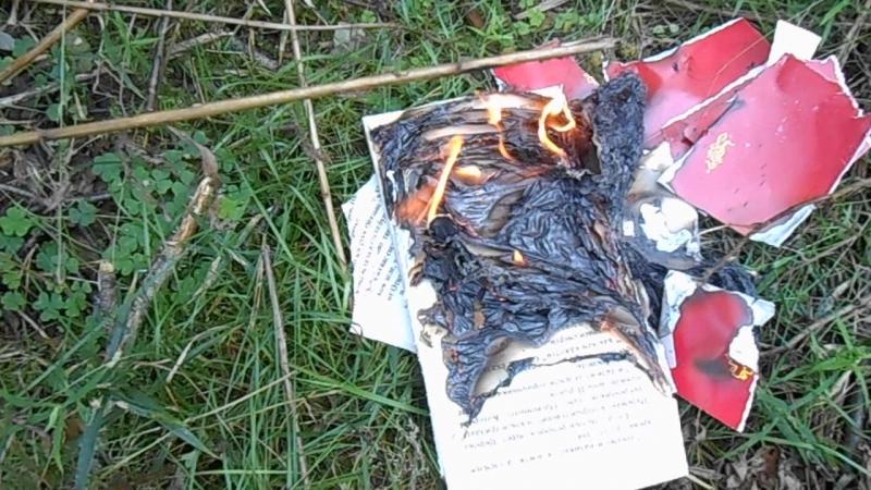 Сожжение церковной мукулатуры.Борьба с мракобесием.