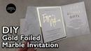 Modern Gold Foil Marble Pocketfold Invitation | Wedding Invitations DIY | Heidi Swapp Minc