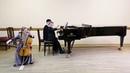 Анастасия Любина, 8 лет (виолончель) и Марк Серапионов, 8 лет (фортепиано).