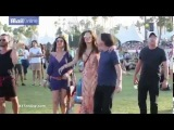 Alessandra Ambrosio shows off her dance skills at Coachella