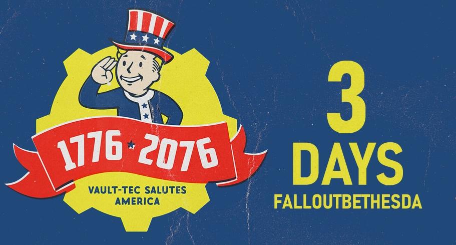До выхода Fallout76 3 дня!