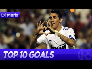 Angel Di Maria - Top 10 goals for Real Madrid | Welcome to Manchester United