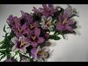 Колокольчики полевые из бисера Часть 4 5 Field flowers of a bell from beads