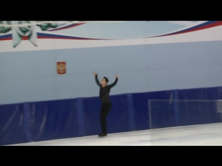 Артур Дмитриев КП Контрольные прокаты 2018-2019 Dmitriy Aliev SP Open Skates
