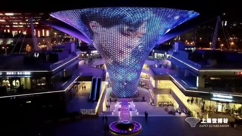 181110 Shanghai World Expo Axis Sunbeam light show_Zhang Yixing_weibo