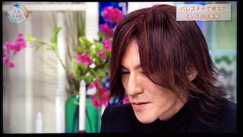 SUGIZO at「あしたも晴れ!人生レシピ」(NHK E Tele), 2019.3.15