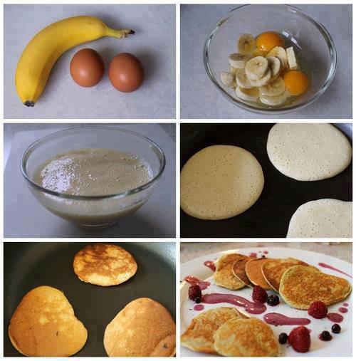 Как сделать блины с бананам