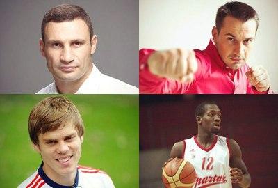 Известные люди ВКонтактe. Спортсмены