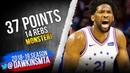 Joel Embiid Full Highlights 2019.02.10 76ers vs Lakers - 37 Pts, 14 Rebs! | FreeDawkins