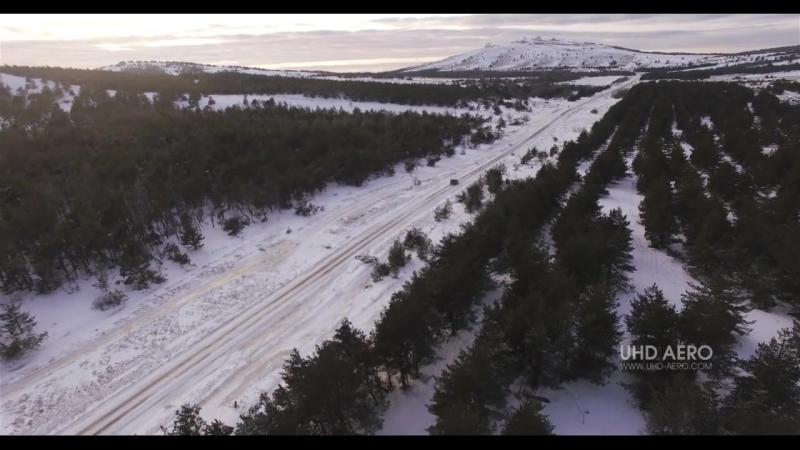 Снежный Ай-Петри. Съемка с воздуха. _ Winter Ai-Petri, Crimea _ Аэросъемка
