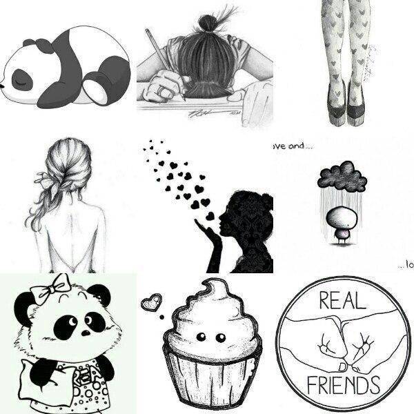 Картинки для распечатки красивые для лд черно белые 11