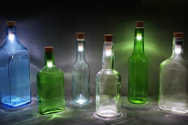 Штука: Как превратить бутылку в лампу