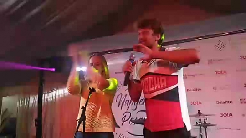 Музыкальное рэп-поздравление литовских участников Парусной регаты СПбГУ 2018 на праздничном вечере награждения победителей