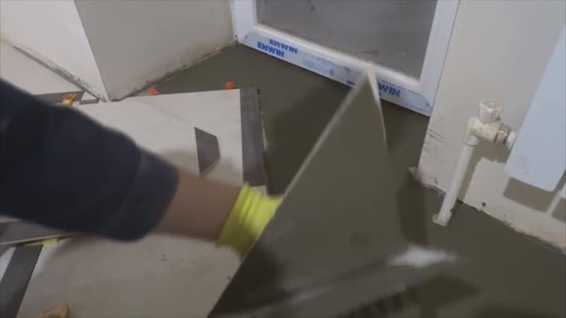 Самый прогрессивный способ укладки плитки.