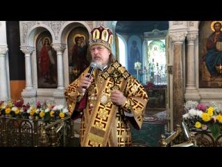 Проповедь митрополита Марка. Поселок Тума