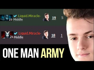 Miracle- One Man Army Carrying Liquid to TI7 Main Stage - Dota 2